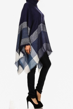 Ellie & Kate Navy Plaid Poncho - Alternate List Image