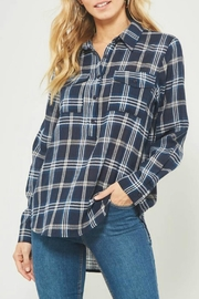 Promesa Navy Plaid Top - Product Mini Image