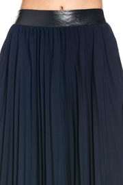 TOV Navy Pleated Skirt - Side cropped