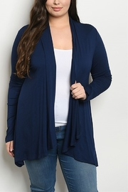 Lyn-Maree's  Navy Plus Cardi - Front cropped