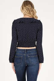 Soprano Navy Polka Dots - Back cropped