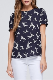 WESTMOON Navy Print Blouse - Product Mini Image