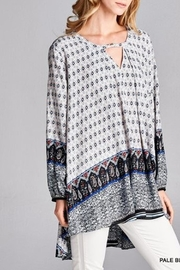Jodifl Navy Print Tunic - Product Mini Image