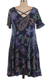 KITTY COUTURE  Navy Printed Tunic - Product Mini Image
