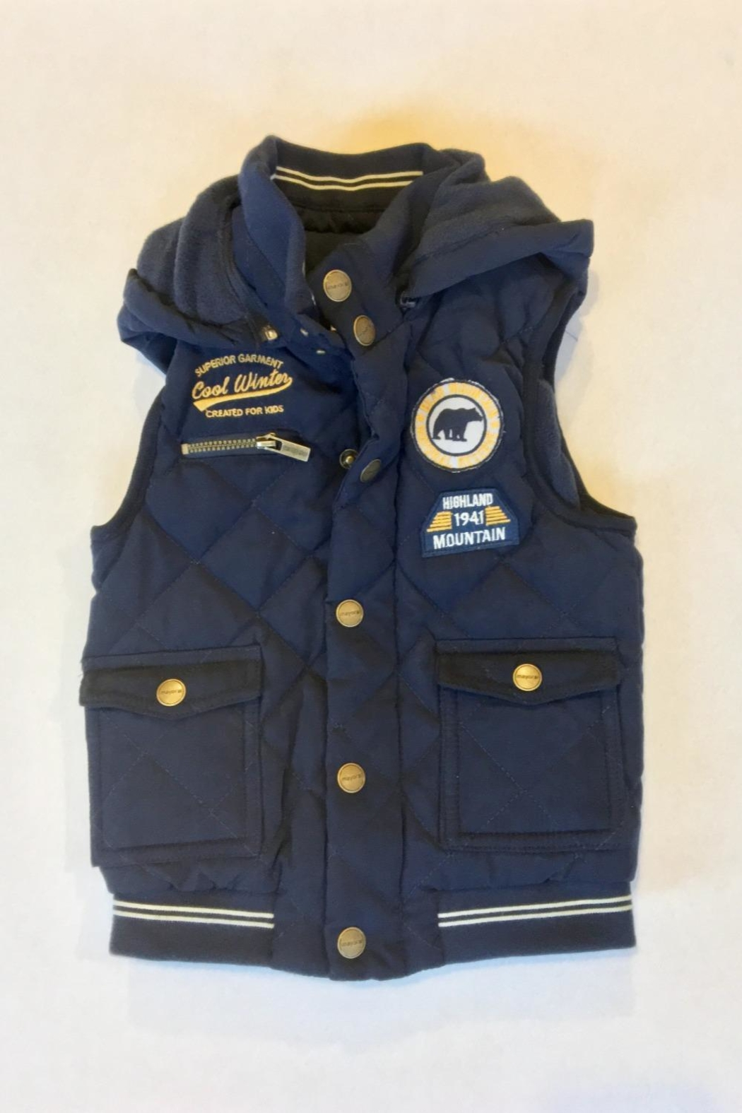 Mayoral Navy Puffer Vest - Main Image