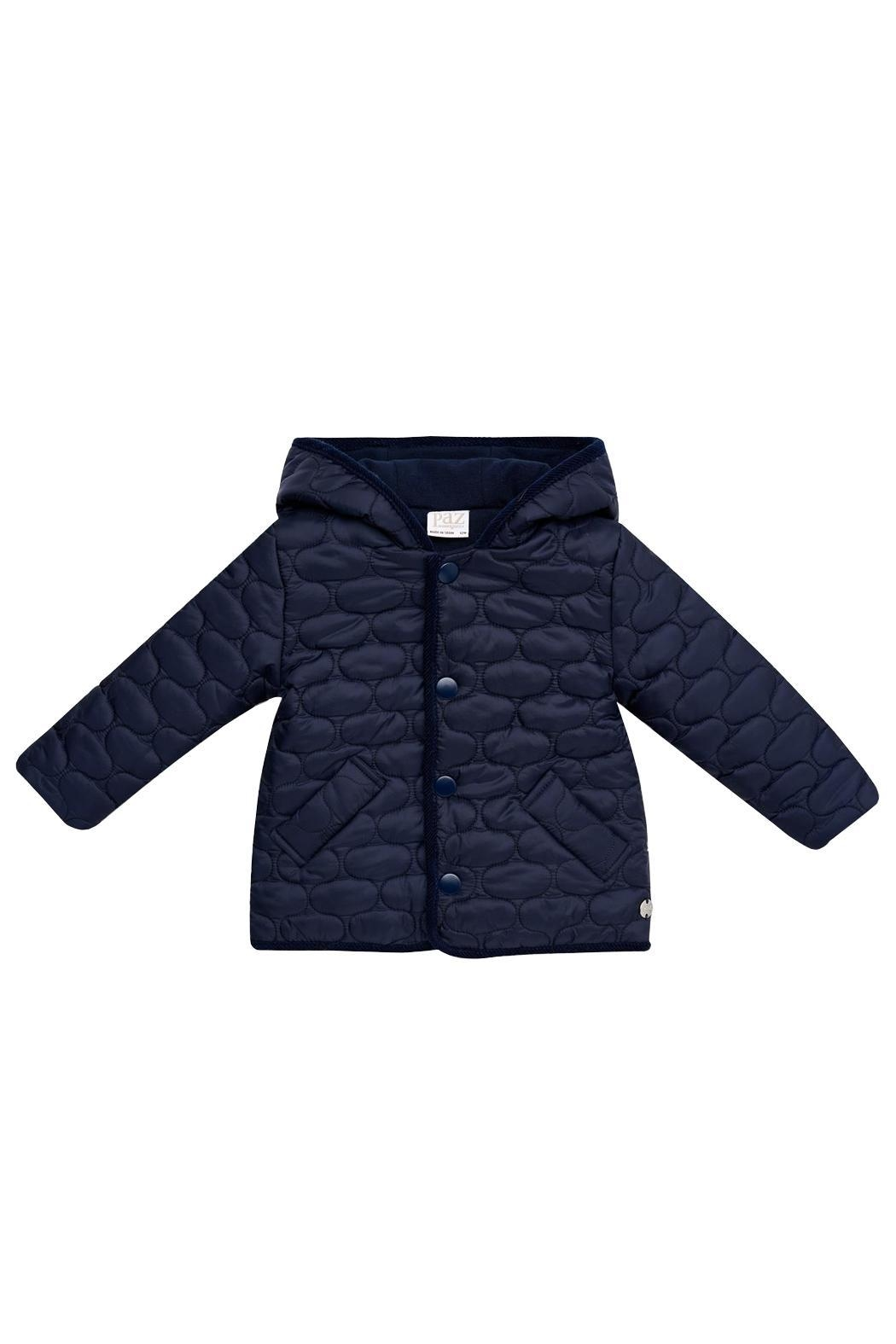 Paz Rodriguez Navy Quilted Coat. - Main Image
