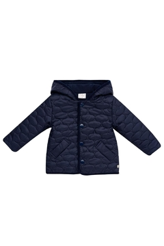 Paz Rodriguez Navy Quilted Coat. - Alternate List Image
