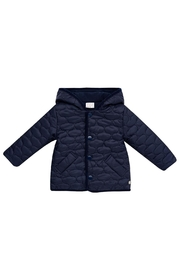 Paz Rodriguez Navy Quilted Coat. - Front cropped