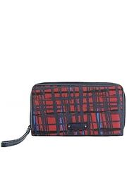 Vera Bradley Navy/red Zip-Around Wristlet - Product Mini Image