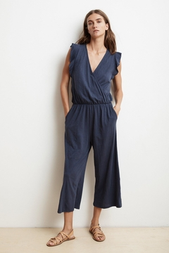 Velvet Navy Romper - Alternate List Image