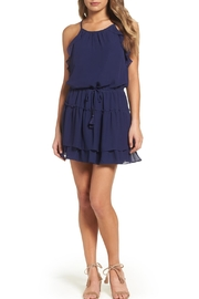 Greylin Navy Ruffle Dress - Product Mini Image