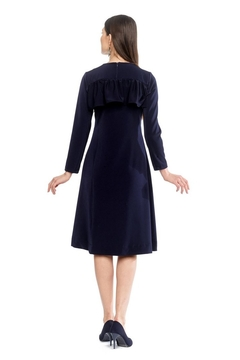 Modaliani Navy Ruffle Dress - Alternate List Image