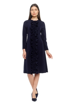 Modaliani Navy Ruffle Dress - Product List Image
