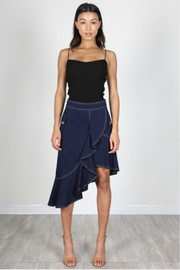 essue Navy Ruffle Skirt - Product Mini Image
