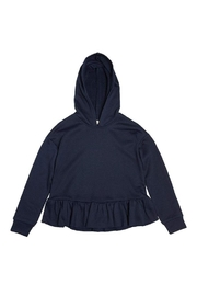 Soprano Navy Ruffle Sweatshirt - Product Mini Image
