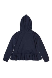 Soprano Navy Ruffle Sweatshirt - Front full body