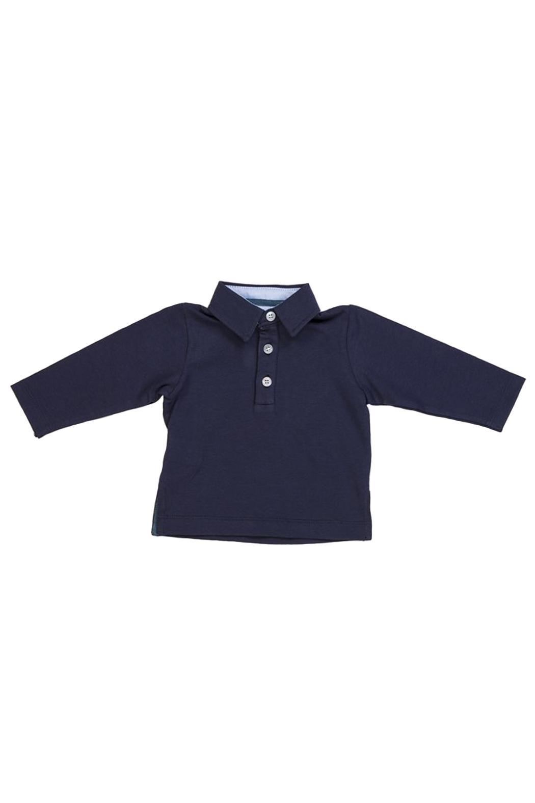 Malvi & Co. Navy Rugby Shirt. - Front Cropped Image