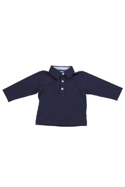 Malvi & Co. Navy Rugby Shirt. - Front cropped