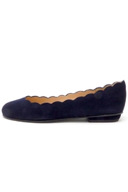 Brenda Zaro Navy Scallop Flats - Product Mini Image