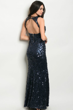 Spy Navy Sequin Gown - Alternate List Image