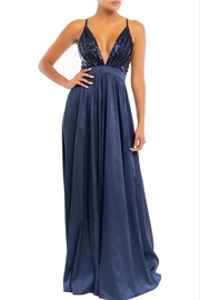 luxxel Navy Sequin Maxi - Product Mini Image