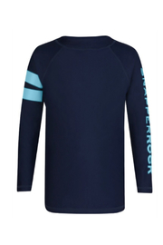 Snapper Rock Navy Sleeve Band Long Sleeve Rash Guard - Front cropped