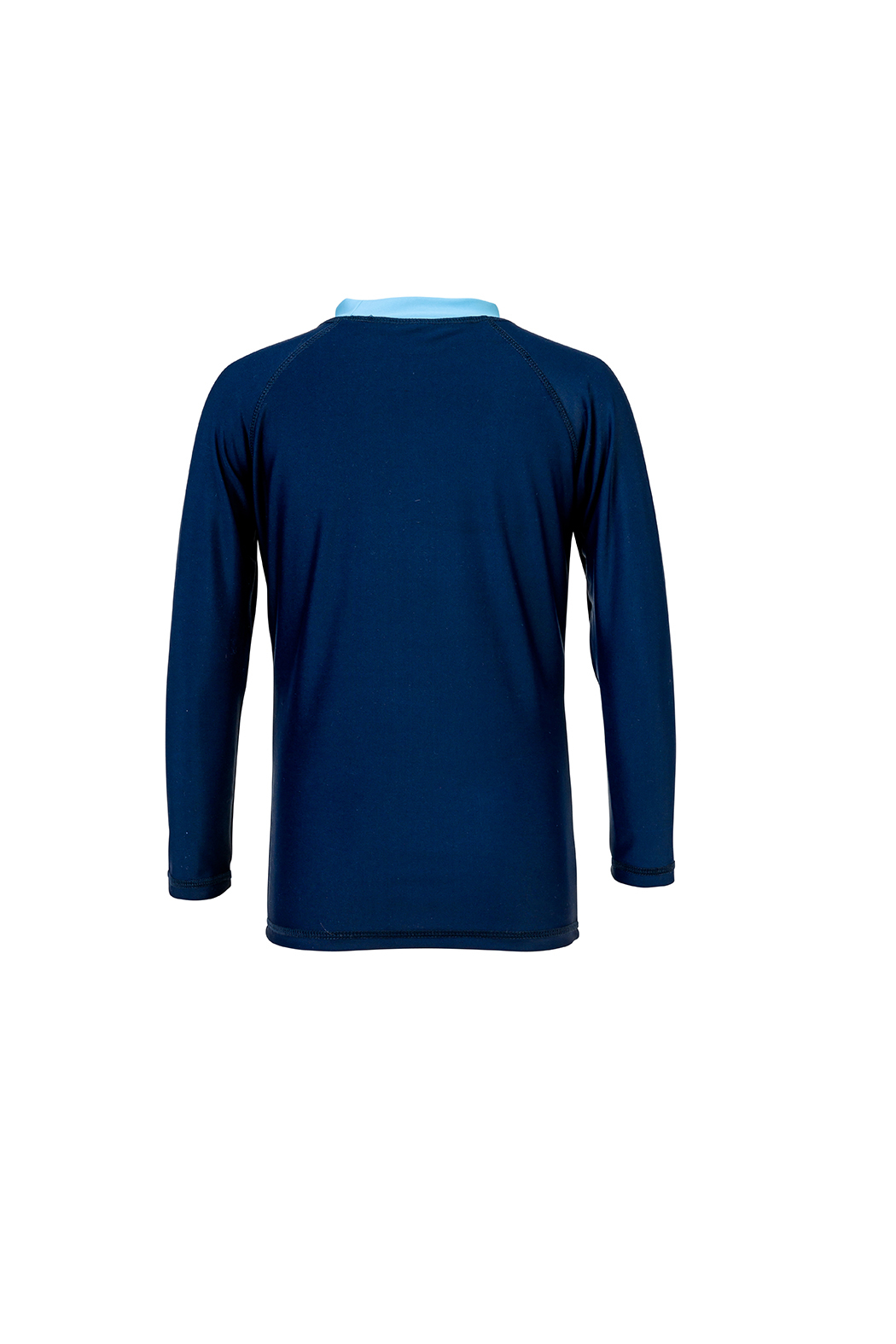 Snapper Rock Navy Sleeve Band Long Sleeve Rash Top - Front Cropped Image