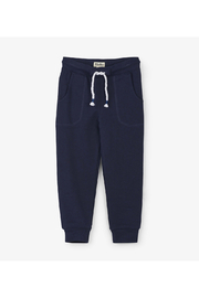 Hatley Navy Slim Fit Joggers - Front cropped