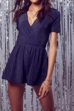 SAGE THE LABEL Navy Sparkle Romper - Product List Image