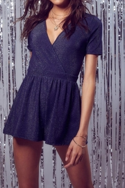 SAGE THE LABEL Navy Sparkle Romper - Front cropped