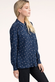 Hatley Navy Sparrows Blouse - Product Mini Image