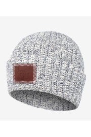 Love Your Melon Navy Speckled Cuffed Beanie - Front cropped