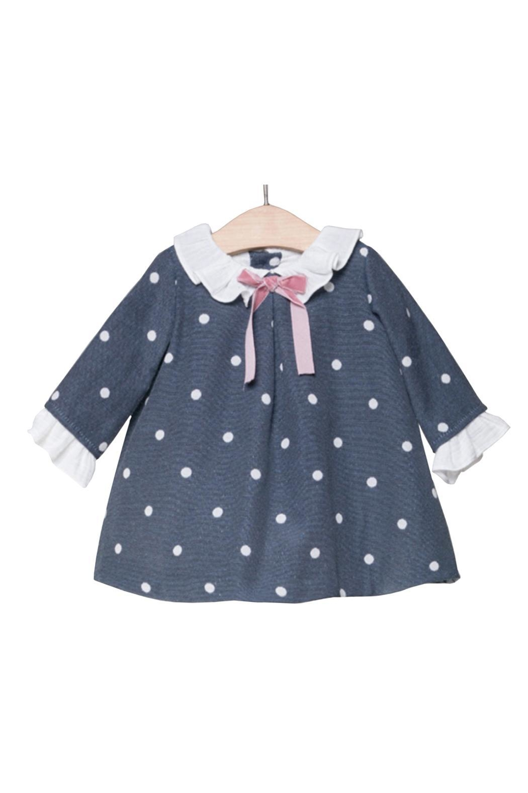 Fina Ejerique Navy Spot Dress. - Main Image