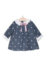 Fina Ejerique Navy Spot Dress. - Front cropped
