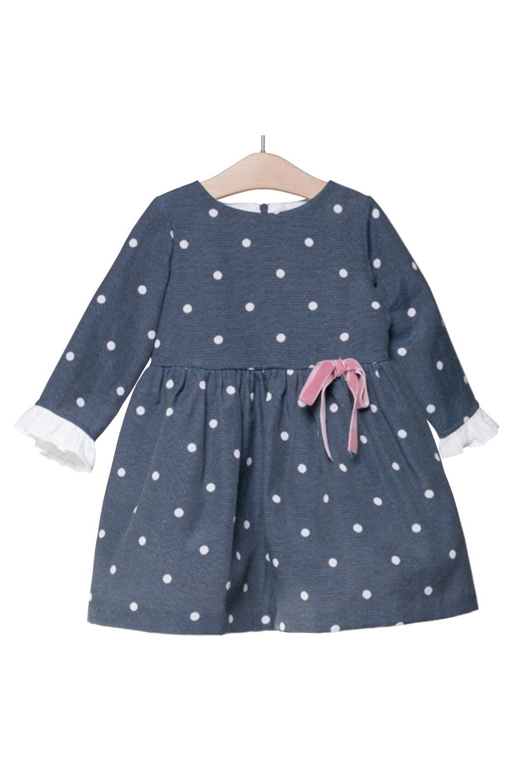 Fina Ejerique Navy Spot Dress. - Front Cropped Image