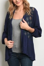Lyn-Maree's  Navy Spring/Summer Cardi - Product Mini Image