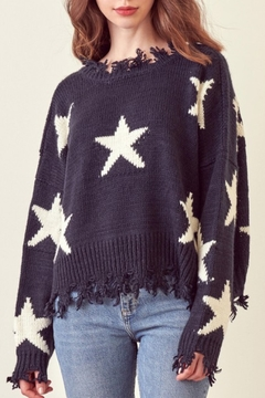 Shoptiques Product: Navy Star Distressed