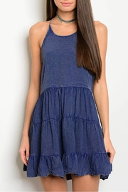 Shop The Trends  Navy Strap Dress - Product Mini Image