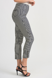 Joseph Ribkoff Navy Stripe Cropped Pant - Front cropped