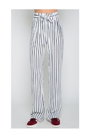 Polly & Esther Navy Stripe Pants - Front cropped