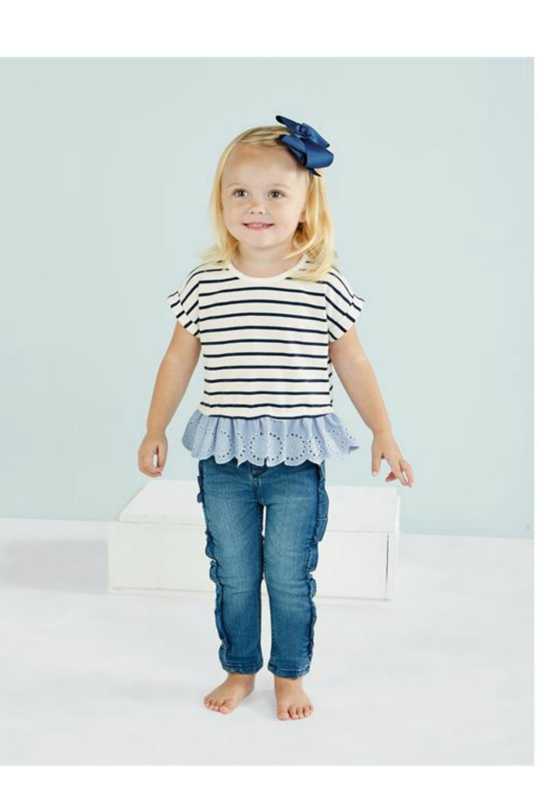 Mud Pie Navy Stripe Tee - Main Image