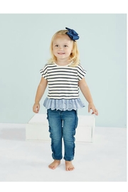 Mud Pie Navy Stripe Tee - Front cropped