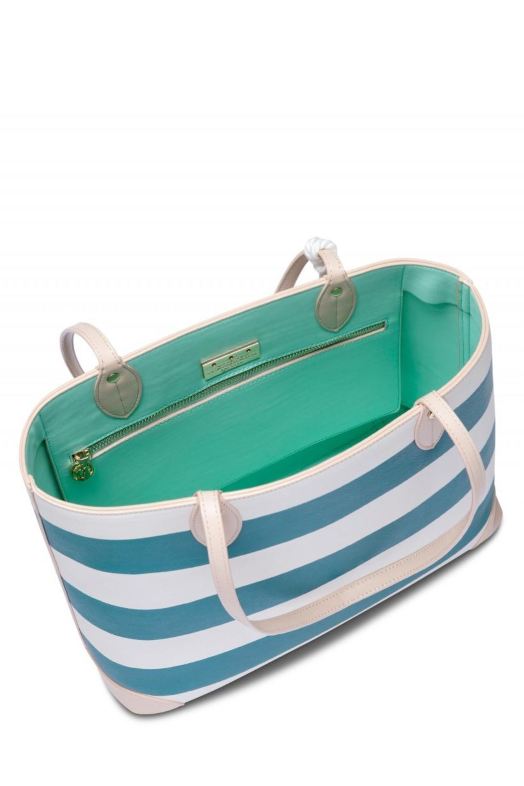 Spartina 449 Navy Stripe Tote - Side Cropped Image
