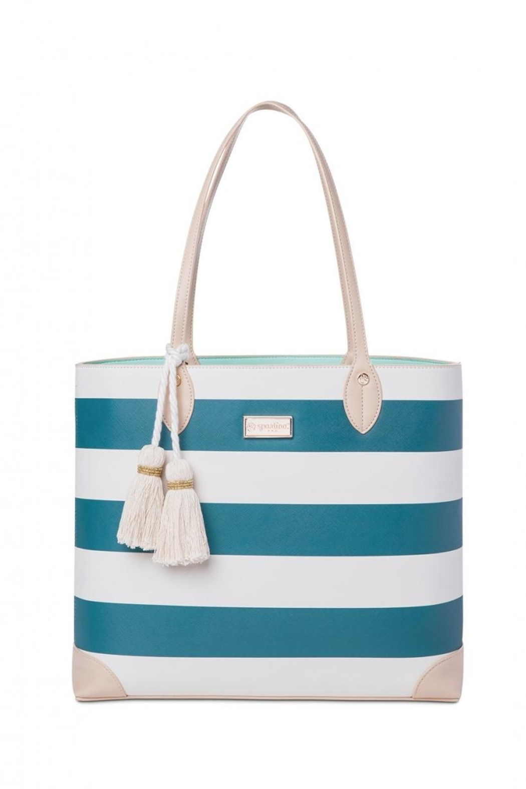 Spartina 449 Navy Stripe Tote - Front Cropped Image