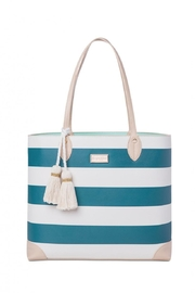 Spartina 449 Navy Stripe Tote - Front cropped