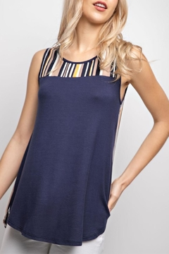 12pm by Mon Ami Navy&Stripe Tunic Tank-Top - Product List Image