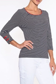 Alison Sheri Navy Stripe with Red Trim - Product Mini Image