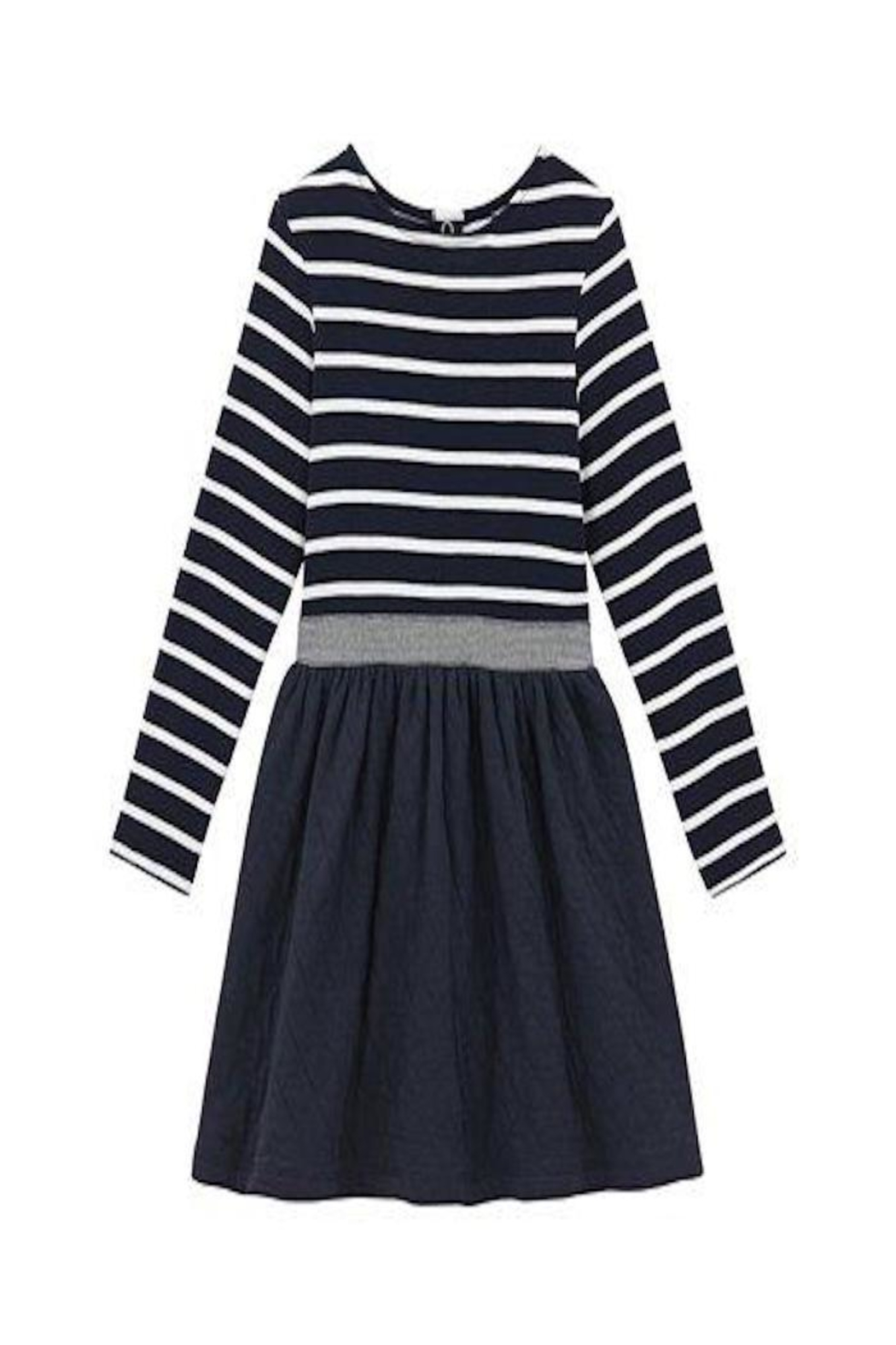 petit bateau Navy Striped Dress - Main Image