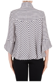 Joseph Ribkoff Navy Striped Jacket - Side cropped