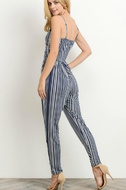 Gilli Navy Striped Jumpsuit - Front full body